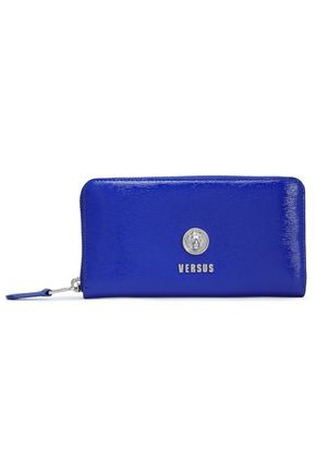 VERSUS VERSACE Glossed textured-leather continental wallet