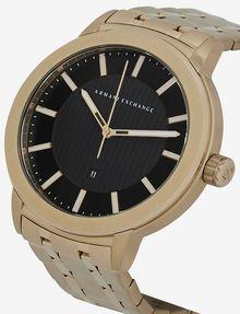 ARMANI EXCHANGE GOLD-TONED BRACELET WATCH WITH COORDINATING BRACELET SET Fashion Watch [*** pickupInStoreShippingNotGuaranteed_info ***] a