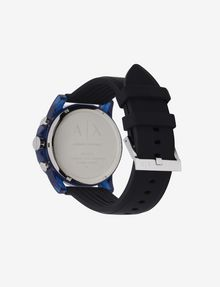 ARMANI EXCHANGE CHRONOGRAPH BLUE CASE SILICONE BAND WATCH Fashion Watch [*** pickupInStoreShippingNotGuaranteed_info ***] d