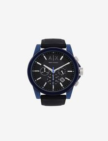 ARMANI EXCHANGE CHRONOGRAPH BLUE CASE SILICONE BAND WATCH Fashion Watch [*** pickupInStoreShippingNotGuaranteed_info ***] f