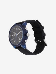 ARMANI EXCHANGE CHRONOGRAPH BLUE CASE SILICONE BAND WATCH Fashion Watch [*** pickupInStoreShippingNotGuaranteed_info ***] r