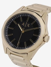 ARMANI EXCHANGE BLACK AND GOLD-TONED BRACELET WATCH Fashion Watch [*** pickupInStoreShippingNotGuaranteed_info ***] a
