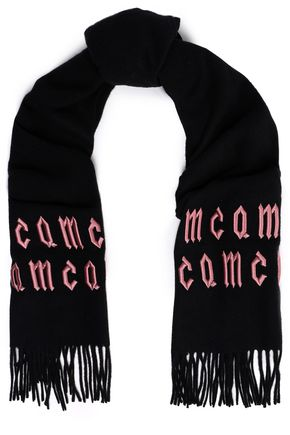 McQ Alexander McQueen Embroidered wool scarf