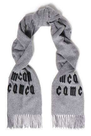 マックキュー 刺繍入り ウール スカーフ