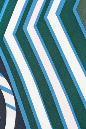 TORY BURCH Printed silk-twill scarf