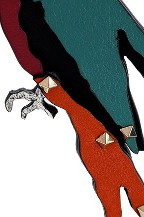VALENTINO GARAVANI Parrot studded leather keychain