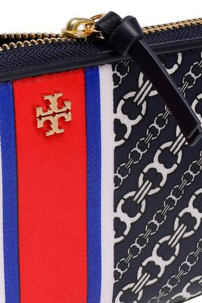 TORY BURCH Printed cotton-twill wallet