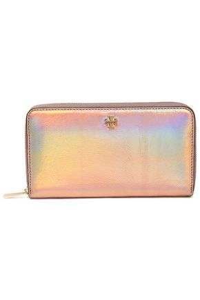 TORY BURCH Iridescent leather wallet