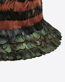 Bucket Hat With Feather Details