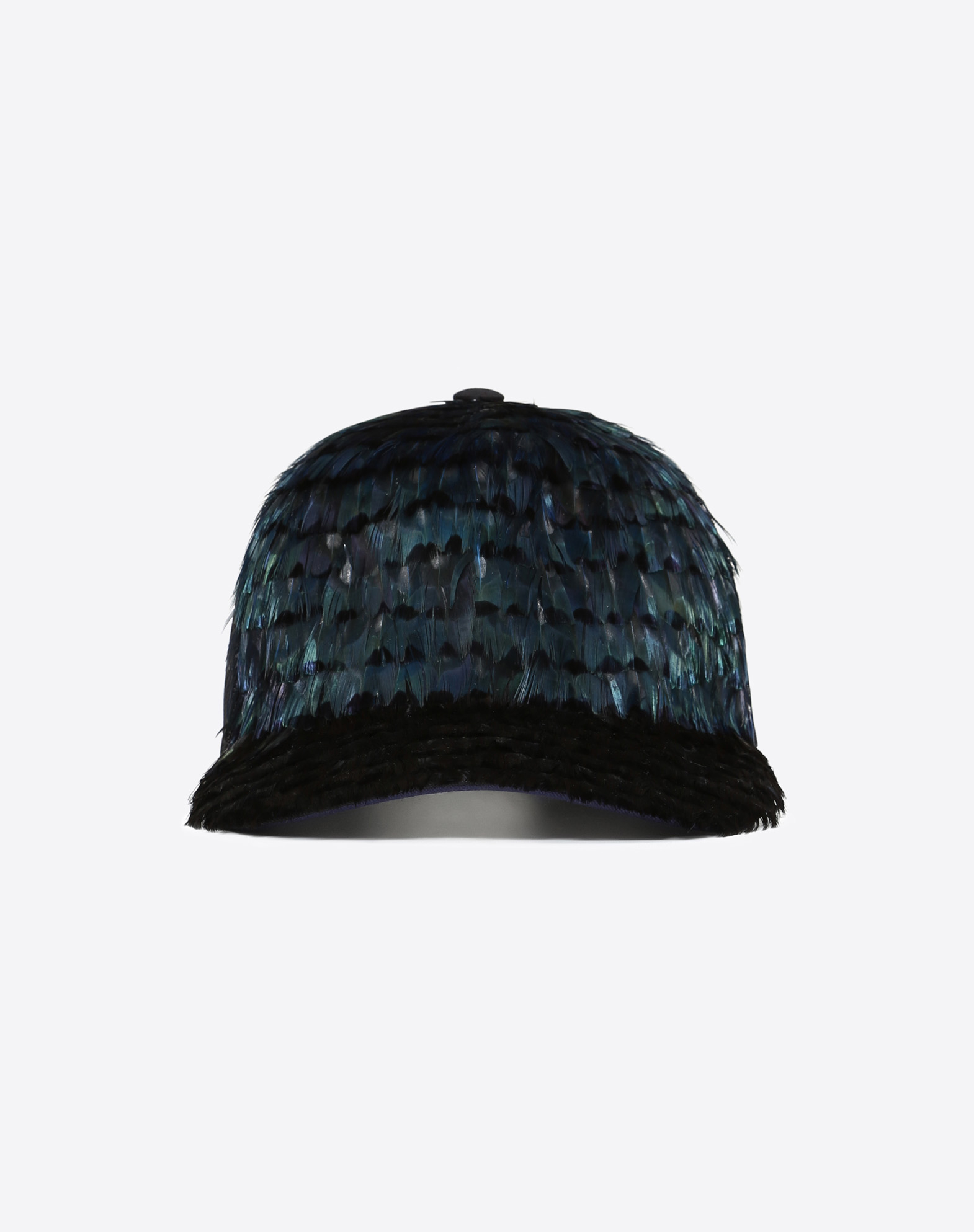 Baseball Cap With Feather Details
