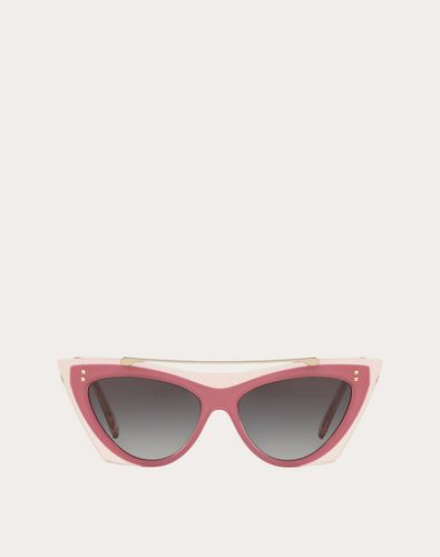 TWO-TONE CAT-EYE FRAME ACETATE SUNGLASSES