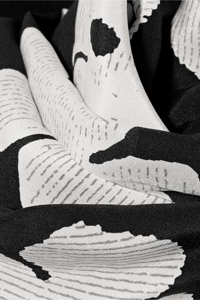 McQ Alexander McQueen Floral-print silk crepe de chine scarf