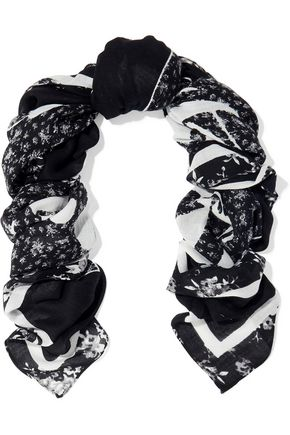 McQ Alexander McQueen Printed cotton and modal-blend gauze scarf