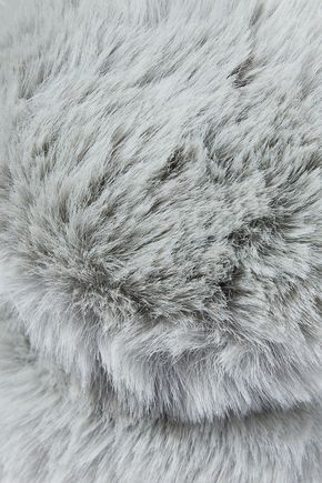 SURELL Faux fur and velvet earmuffs