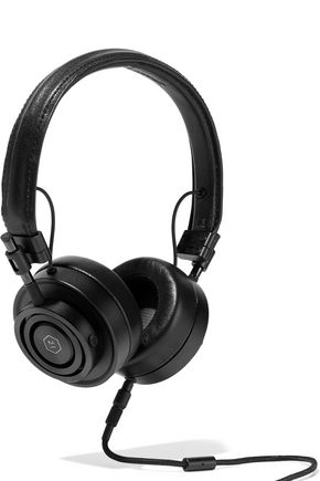 MASTER & DYNAMIC MH30 textured-leather headphones