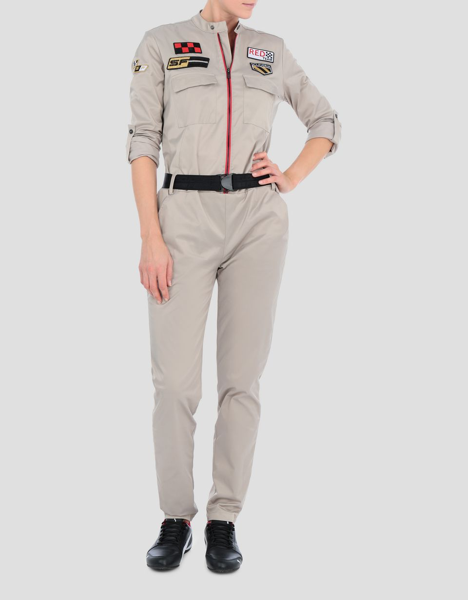 Scuderia Ferrari Online Store - Tuta donna Everywhere Red in twill stretch - Tute