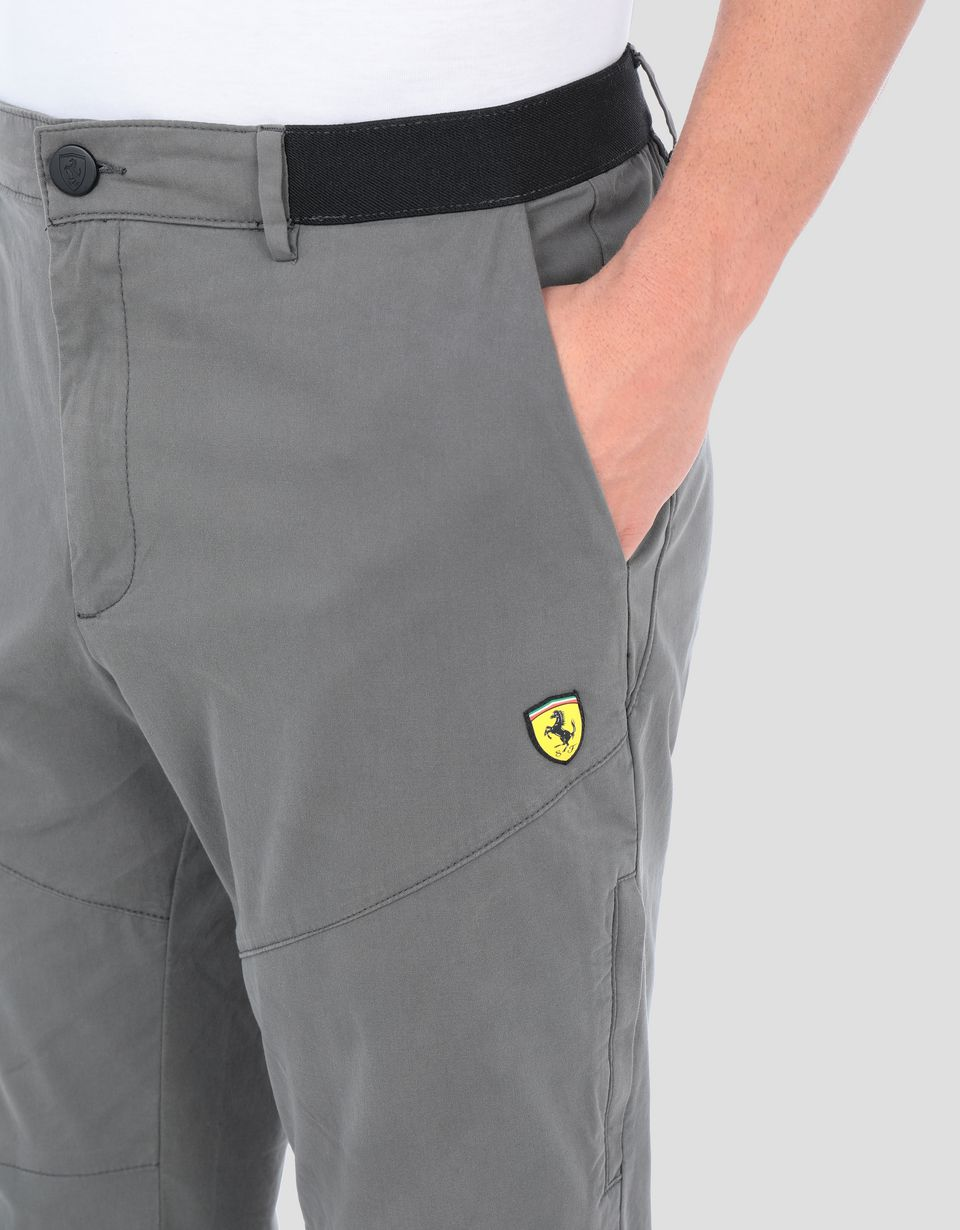 Scuderia Ferrari Online Store - Men's Everywhere Red cotton chino trousers - Chinos