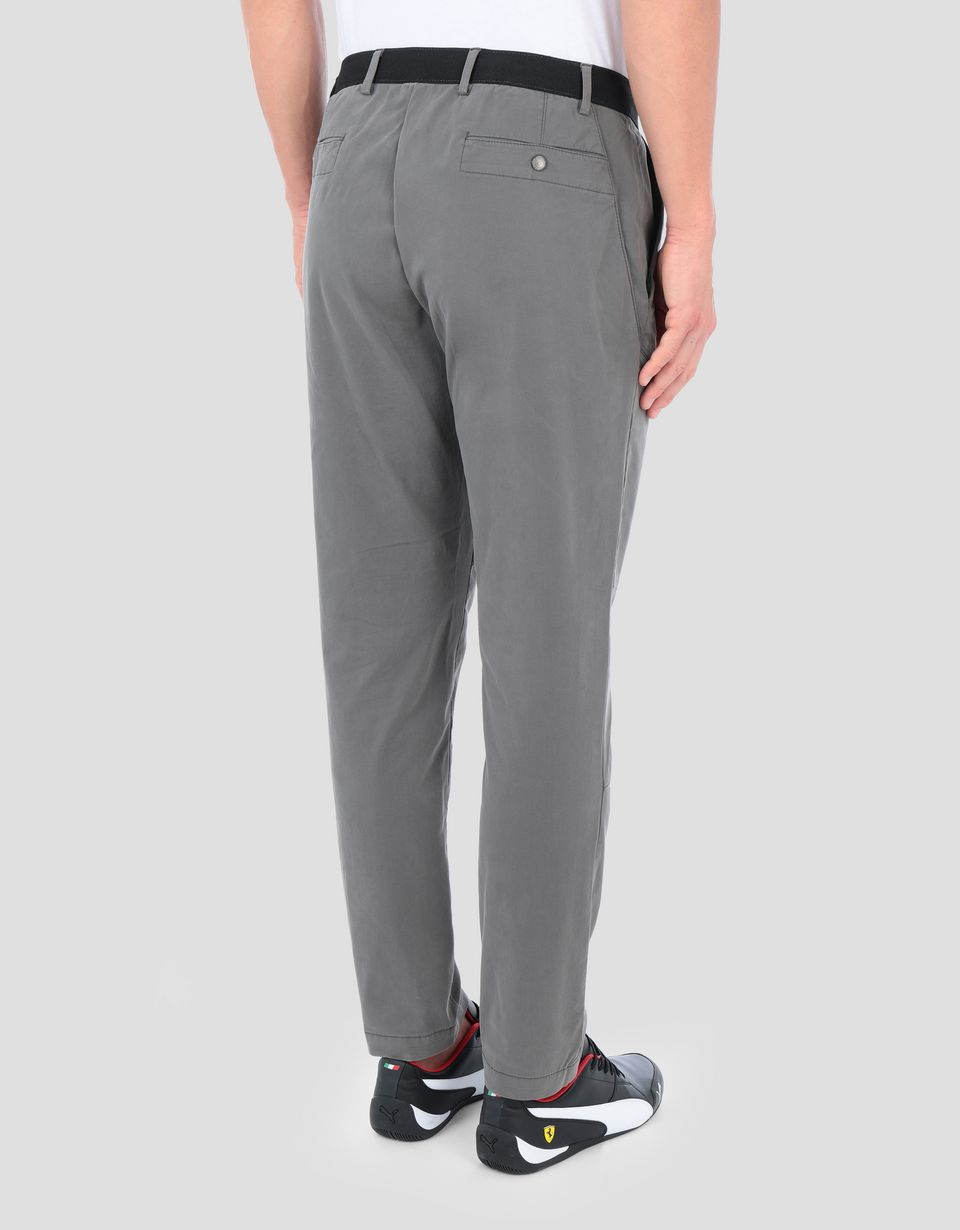 Scuderia Ferrari Online Store - Men's Everywhere Red cotton chinos - Chinos