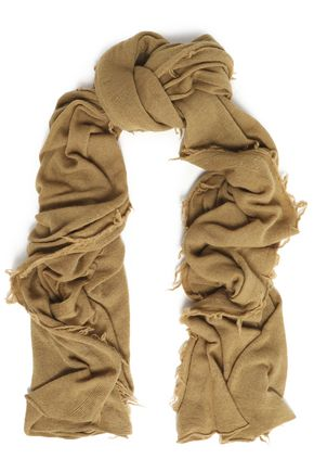 IRO Fringed wool and cashmere-blend scarf