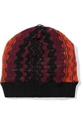 ミッソーニ かぎ針編み ウール混 ビーニー