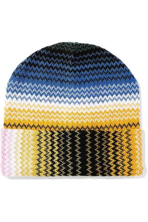 MISSONI Crochet-knit wool-blend beanie