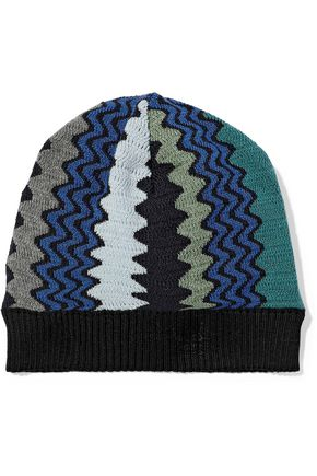 MISSONI Crochet-knit wool-blend beanie
