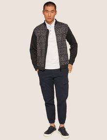 ARMANI EXCHANGE PATTERN-BLOCKED LOGO BOMBER Track top [*** pickupInStoreShippingNotGuaranteed_info ***] d