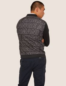 ARMANI EXCHANGE PATTERN-BLOCKED LOGO BOMBER Track top [*** pickupInStoreShippingNotGuaranteed_info ***] e
