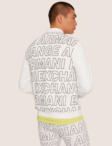 ARMANI EXCHANGE PATTERN-BLOCKED LOGO BOMBER Track top [*** pickupInStoreShippingNotGuaranteed_info ***] e