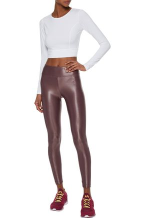 KORAL Lustrous coated stretch leggings