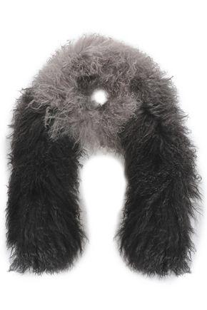 CHARLOTTE SIMONE Dégradé shearling scarf