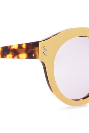 STELLA McCARTNEY Round-frame gold-tone acetate sunglasses