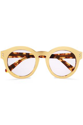 7225a3c5e92 STELLA McCARTNEY Round-frame gold-tone acetate sunglasses