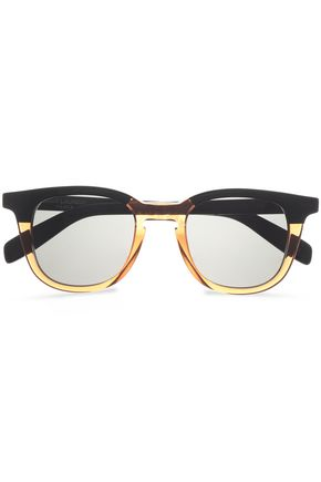 SAINT LAURENT D-frame gold-tone and acetate sunglasses