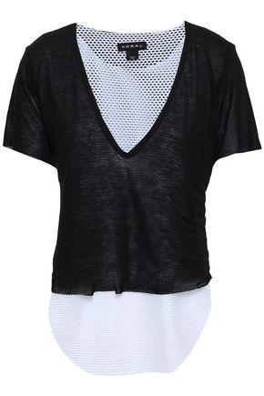 KORAL メッシュパネル付き テンセルジャージー Tシャツ