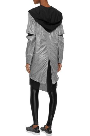 KORAL Billboard layered shell and mesh hooded jacket
