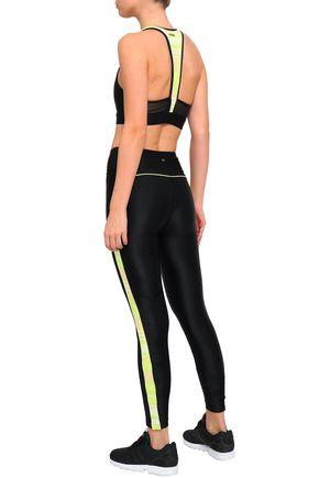 KORAL Mesh-paneled stretch sports bra