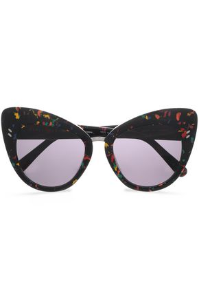 STELLA McCARTNEY Cat-eye painted acetate sunglasses