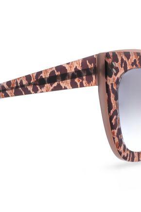 STELLA McCARTNEY Square-frame leopard-print acetate sunglasses