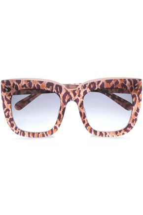 STELLA McCARTNEY Square-frame leopard-print acetate sunglasses