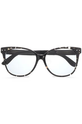 BOTTEGA VENETA D-frame quilted acetate sunglasses