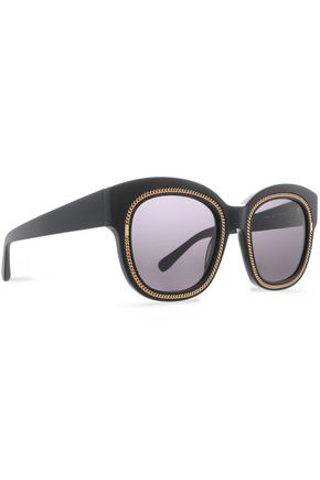 STELLA McCARTNEY D-frame gold-tone acetate sunglasses