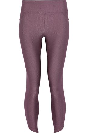 KORAL Cropped textured stretch leggings
