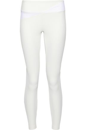 KORAL Flight mesh-paneled textured stretch leggings