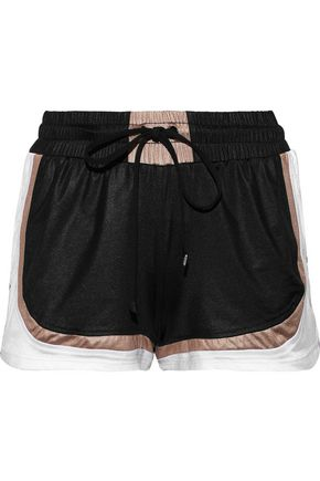 KORAL Blackout color-block sateen shorts
