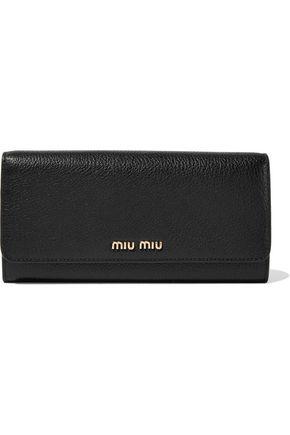 MIU MIU Textured-leather continental wallet