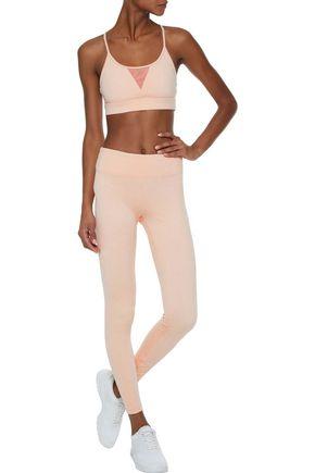 KORAL Trifecta mesh-paneled stretch-jacquard sports bra