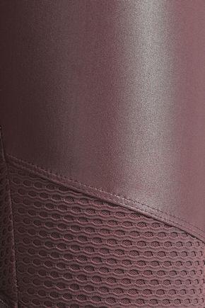KORAL Stilt mesh-paneled coated stretch leggings