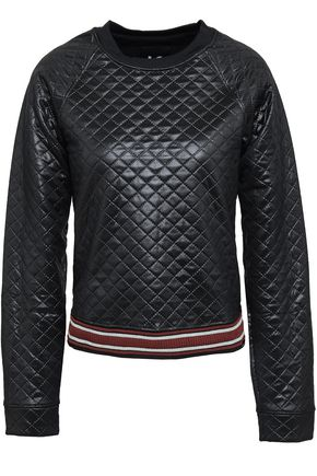 KORAL Coated quilted jersey sweatshirt