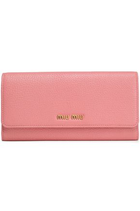 MIU MIU Textured-leather continental wallet